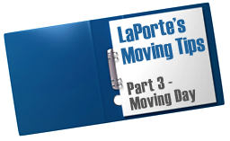 Moving Tips from LaPorte Moving